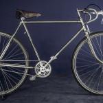 "Vintage style racer build on a ""Waffenrad"" frame"